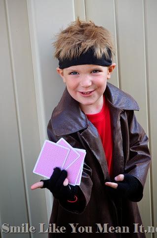 Homemade Gambit Costume