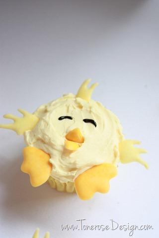 lag enkle og søte cupcakes til påske påskekylling påskecupcake