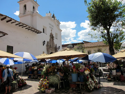 Cuenca's colorful flower market