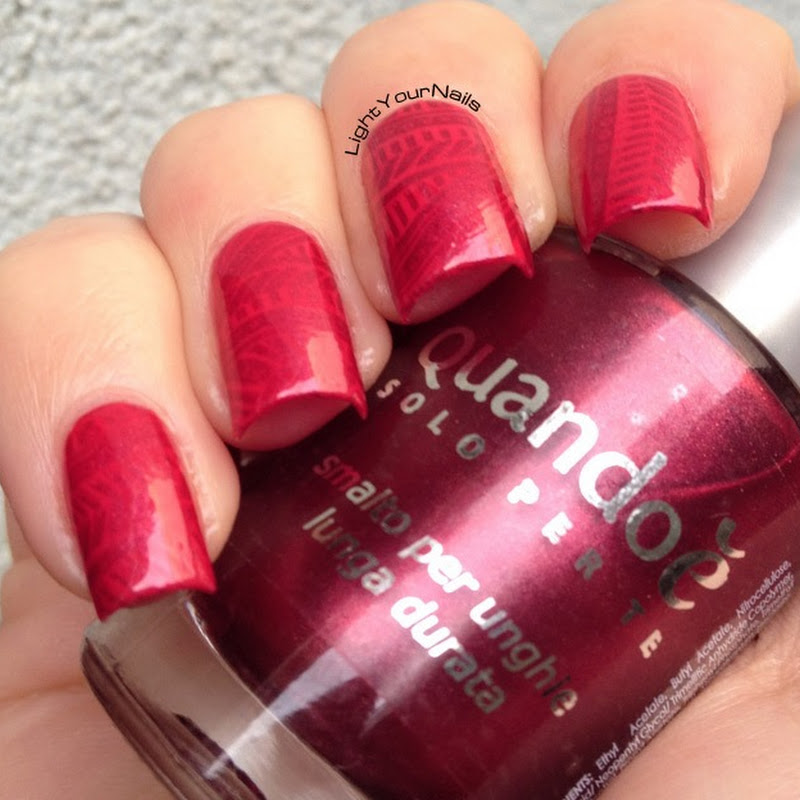 Red stamping with BP-07 plate