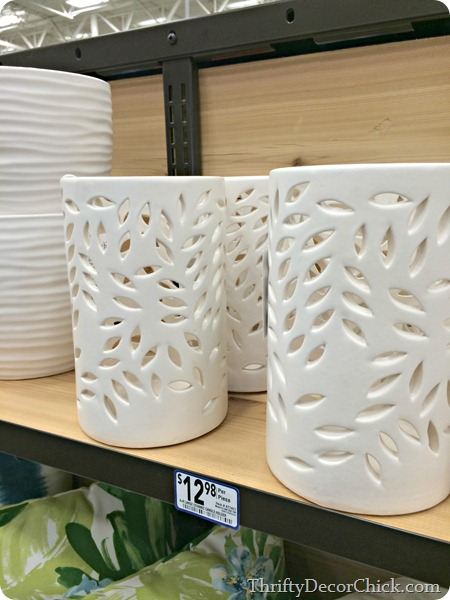 Ceramic cut out candle holders