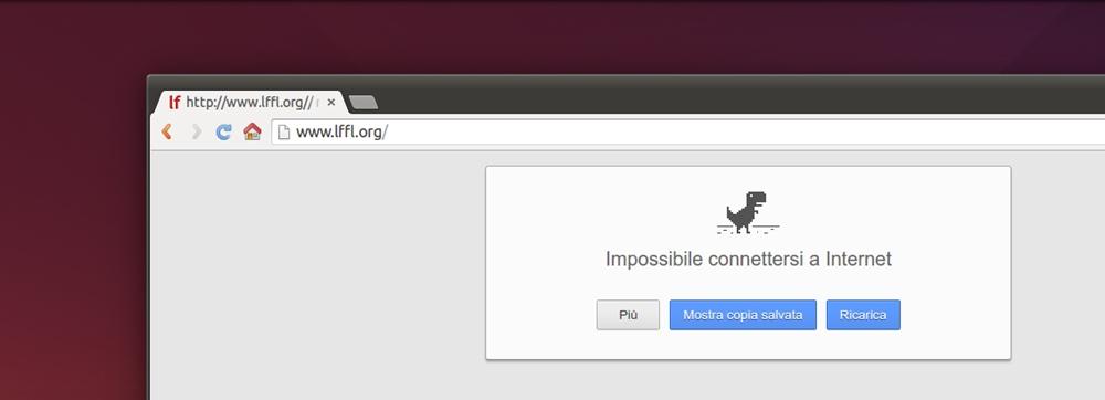 Google Chrome opzione Mostra Copia Salvata