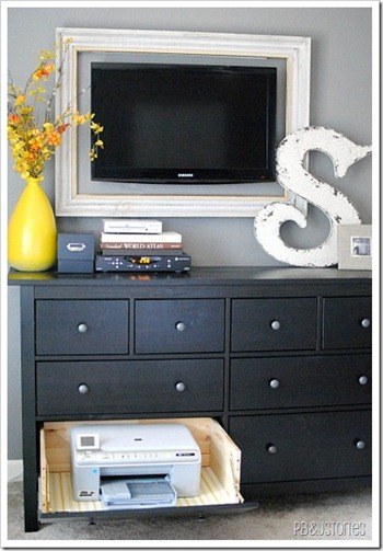 office bedroom printer storage organization