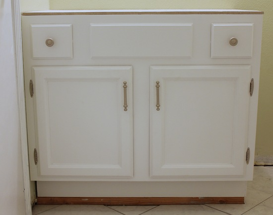 How To Add Height To An Existing Bathroom Vanity Remodelaholic How To Raise Up A Vanity