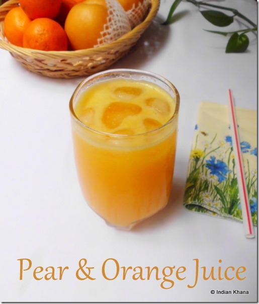 Easy Pear and Orange juice recipe