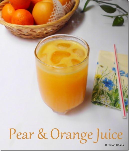 Easy Pear and Orange juice recipe