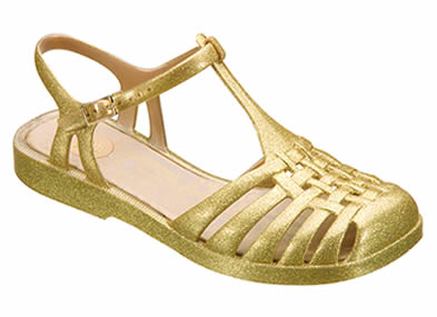 Melissa Aranha Dourada Glitter