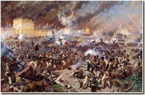 Bataille sous les murs de Smolensk en feu