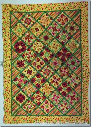 0415 Rhona's Red-Yellow Quilt
