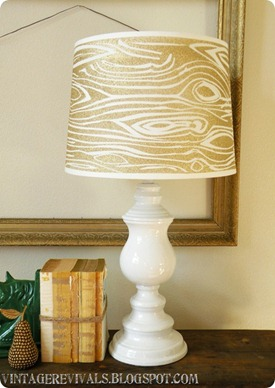 wood grain lampshade