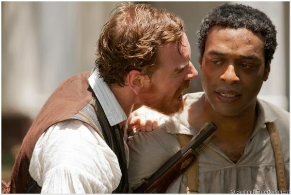 """Michael Fassbender and Chiwetel Ejiofor from """"12 Years A Slave"""""""