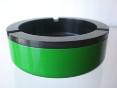 green and black Crayonne ashtray