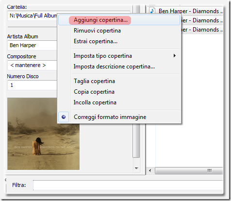 Mp3tag come inserire e modificare i tag dei file audio prova virus - Canzoni er finestra ...