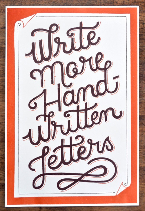 Write More Handwritten Letters print by Mary Kate McDevitt 