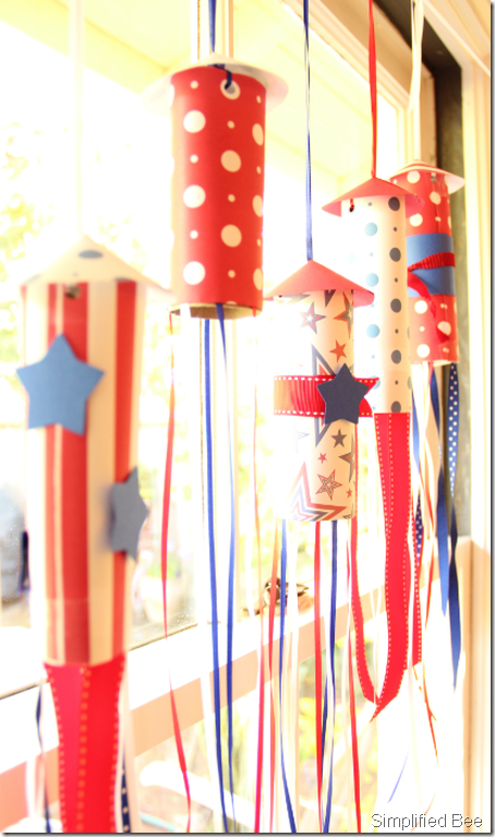 july 4th rocket garland diy