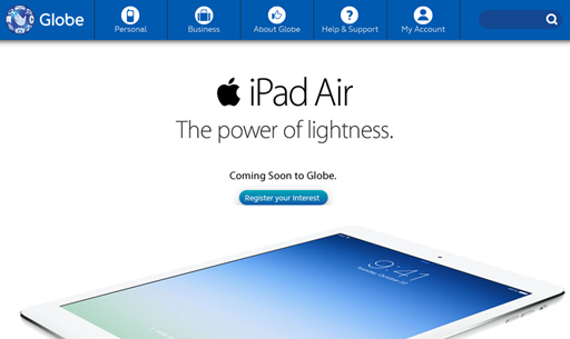 Globe Telecom iPad Air iPad mini with Retina display Postpaid Plans Philippines