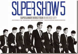 Super Junior 5 five super boletos ticketmaster compra hasta adelante 2013