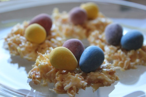 Coconut Nests Easter Candy