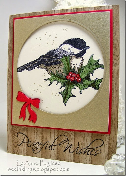 LeAnne Pugliese WeeInklings Christmas Chickadee Stampin Up