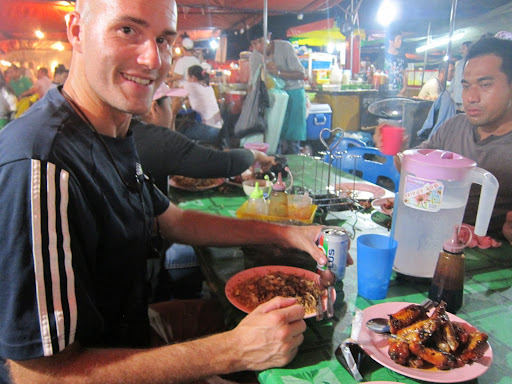 Dinner at the night market.