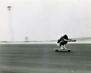 "Eddie on a speed run on our long 34"" board...."