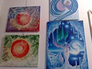 Tablouri de iarna expuse la Elite Prof Art la expozitia Culori de sarbatori