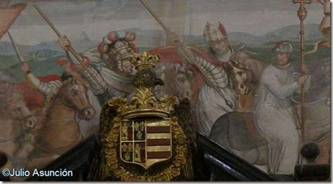 Monasterio de Santa Maria de Huerta - Jiménez de Rada y Alfonso VIII en la batalla de Las Navas de Tolosa