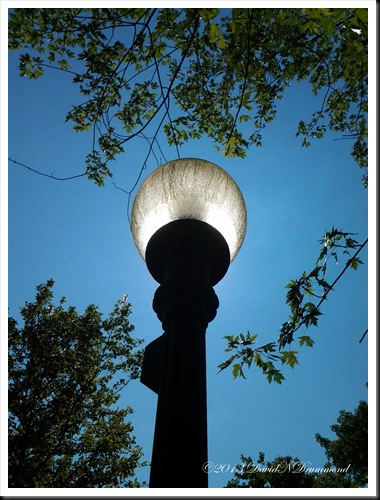 Lamp Post in a park in Central Pennsylvania