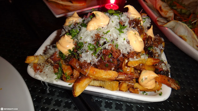 most delicious fries ever at origin in liberty village in Toronto, Ontario, Canada