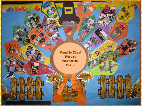 Kinderbykim 39 s blogspot terrific turkey and pilgrim ideas for Family display board ideas