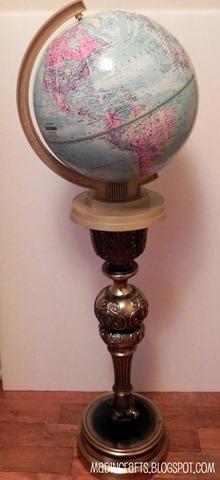 globe on pedestal