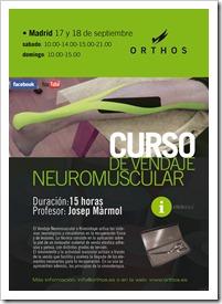 Nuevo Curso sobre Vendaje Neuromuscular de Orthos Madrid 17 y 18 septiembre de 2011.