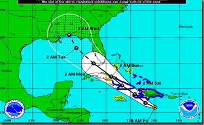 Tropical Storm Isaac cone of uncertainty and 5 day track   OrlandoSentinel.com.png