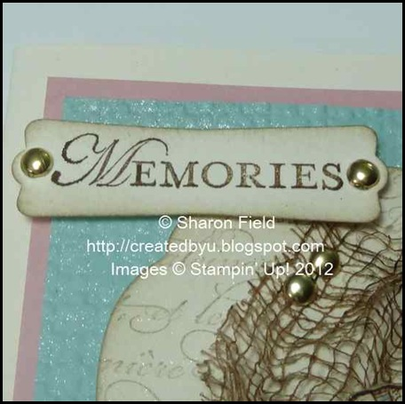 Loving thoughts sentiment and beachy card theme
