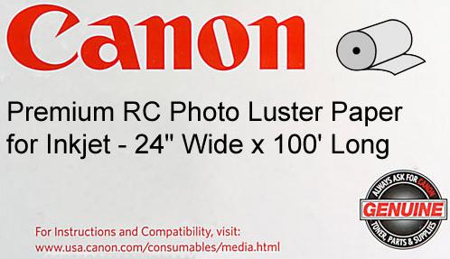 Canon Premium RC Photo Luster Paper