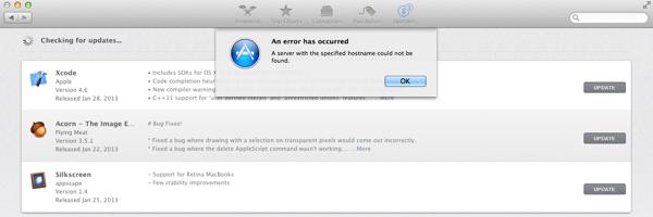 Mac App Store Hostname