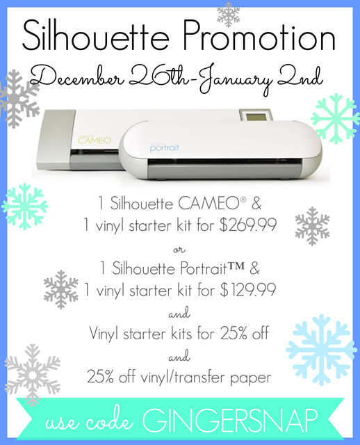 THE Silhouette Promotion at GingerSnapCrafts.com