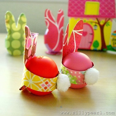 Rabbit Easter Egg Craft - The Silly Pearl
