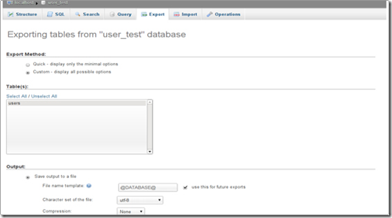 kelola database halaman phpMyAdmin
