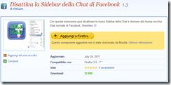 disattiva sidebar chat fb