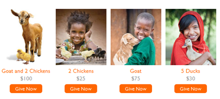 World Vision Gift Catalog Animal