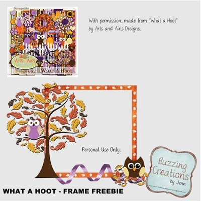 Arts and Ains Designs - What a Hoot - Frame Freebie Preview