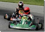 Schumacher guida un kart sulla pista di Sarno