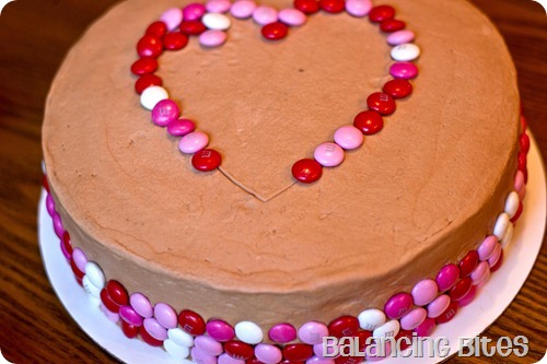 Valentine's Day M&M Heart Cake 4