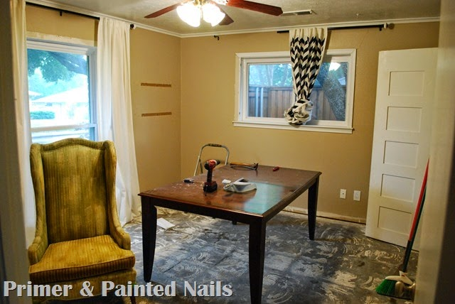Guest Room During - Primer & Painted Nails
