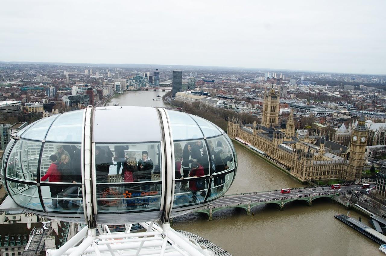 London Eye on Westminster Abbey