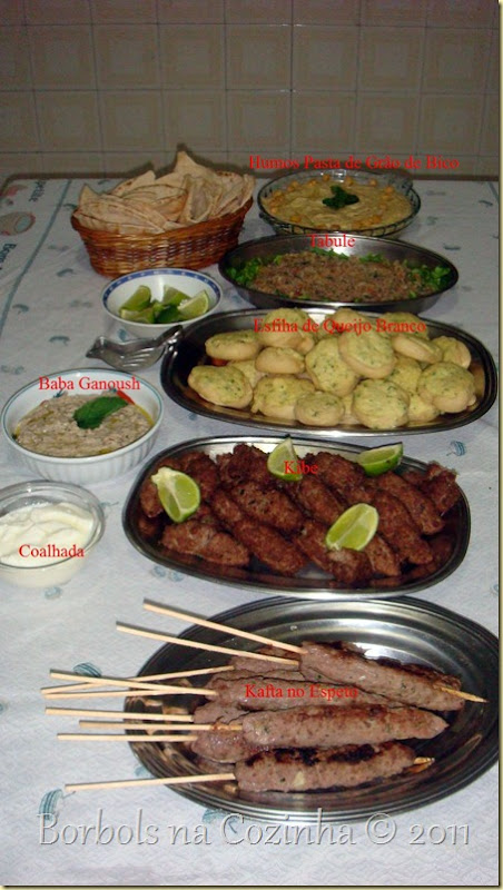 Noite Árabe culinária