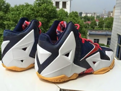 nike lebron 11 gr black white red mango 2 03 independence day This USA Themed Nike LeBron XI Drops on... Independence Day