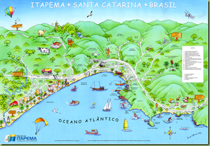 Mapa turístico de Itapema 2012