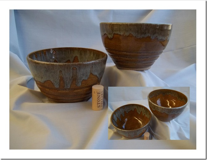 Blue and Brown Bowls - Set of 2